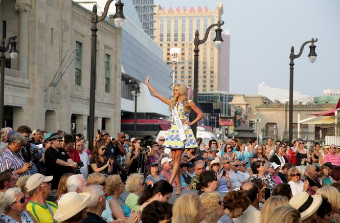 Some lawmakers have floated the idea of legalizing marijuana in Atlantic City to boost revenues for the resort town. Chelsea Malone, Miss West Virginia 2015, waves to the crowd as she is introduced during the 2016 Miss America Arrival Ceremony at Kennedy Plaza on the Atlantic City Boardwalk, Tuesday, Sept. 1, 2015. (Tim Hawk | For NJ.com)