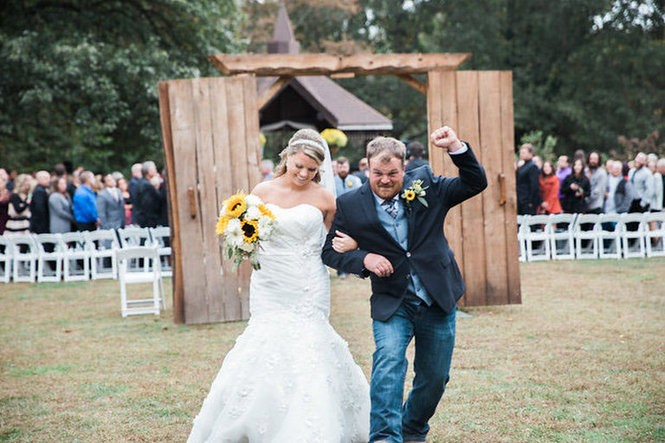 Photos from the wedding of Stephanie Hitchner and Bryce Kershaw at Pratt Gardens in Pilesgrove. Oct. 17, 2015. (Velahos Photography)