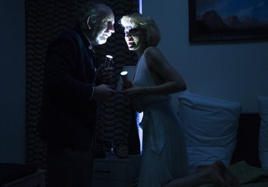 """The play """"Insignificance"""" is being staged in a fifth-floor room at the Langham Place Hotel in New York City. (Jenny Anderson)"""