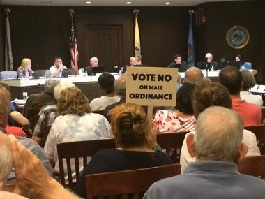 Residents packed an Eatontown Borough Council meeting on Sept. 14, 2016 to hear the council vote on a controversial zoning change proposed for Monmouth Mall. (Rob Spahr | NJ Advance Media for NJ.com)