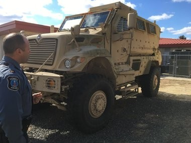 Howell Police Chief Andrew Kudrick says the department plans to paint its MRAP similar to other cruisers.