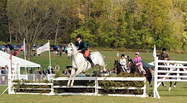 Essex Fox Hounds Joint Master Karen Murphy led the master's chase last year at Natirar in Peapack during an afternoon of racing that will be held again this autumn.