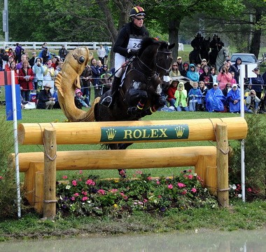 Doug Payne and Running Order on the cross-country course at Rolex Kentucky