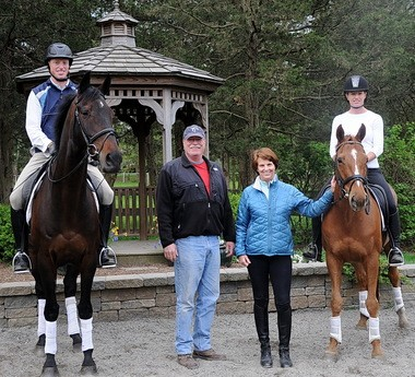 The Payne family: Doug; his father, Richard; mother, Marilyn and sister, Holly, also an eventer