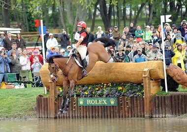 Buck Davidson and Ballynoe Castle RM, owned by Cassandra and Carl Segal of Pottersville, who is being recognized as the U.S. Eventing Association's all-time high-point horse next weekend.