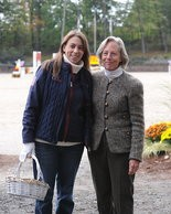 Amy Serridge with Sally Ike, the USEF's managing director of licensed officials.