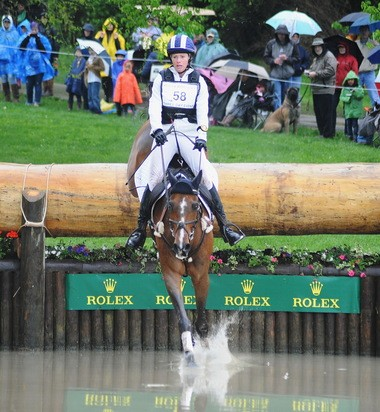 Holly Payne of Gladstone moved up 36 places at the Rolex Kentucky Three-Day event with no jumping faults on Never Outfoxed during an impressive cross-country round at the Kentucky Horse Park.