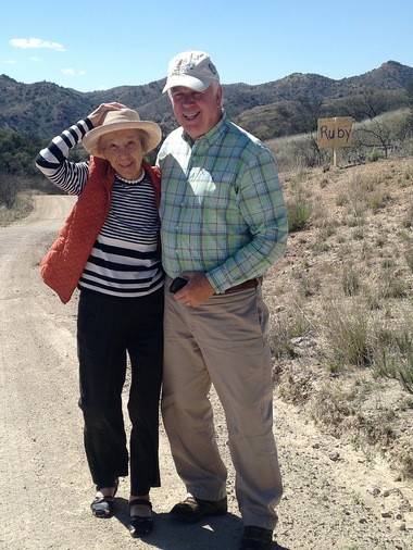 Jean and Roger Haller March 2015 in Arizona.