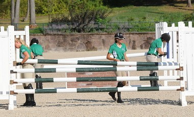 Setting fences is part of the deal for the Emerging Athletes Program.