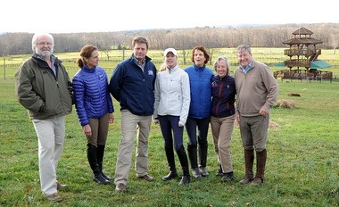 Guy Torsillieri, Clarissa Wilmderding, Morgan Rowsell, Holly Payne Caravella, Marilyn Payne, Sally Ike and Ralph Jones checked out the site for the Essex Horse Trials at Moorland Farms last week.