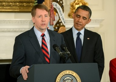 Richard Cordray, President Obama's re-nominee to stay as the director of the Consumer Financial Protection Bureau.