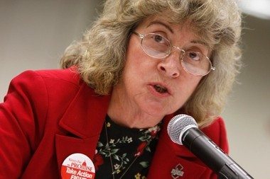 Barbara Keshishian, president of the New Jersey Education Association, in a 2010 file photo.