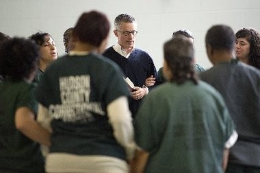 Former Gov. Jim McGreevey, counseling at Hudson County Correctional Center, argues that helping ex-offenders find homes and jobs is a win-win situation for the ex-offenders and society.