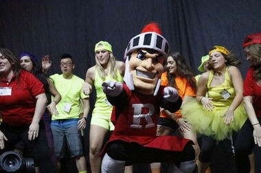 Rutgers University students are seen at they start 30 hours of dancing Saturday at noon at the Rutgers Athletic Center in Piscataway on April 11.