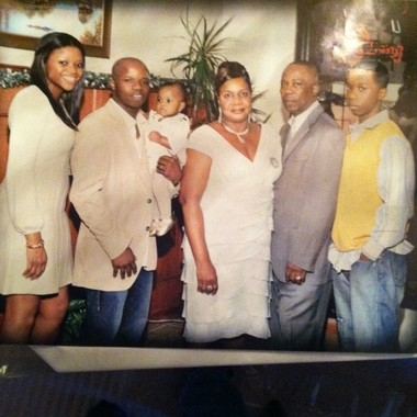 In this undated photo, shooting victim Pierre Clervoyant (second from left) poses with his family. He is holding his daughter, Jaidyan, now 6-years-old. On his left is his sister, Stephanie. To his right are his parents, Marie and Pierre Sr. On the far right is the victim's brother, McHenley.