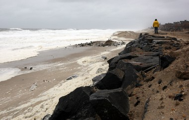 Bay Head's sea wall runs along roughly three-quarters of its beachfront properties, stretching about 4,500 feet. Local officials want to extend it 300 feet south to the town's border, but neighboring Mantoloking says it will send floodwaters rushing their way in future storms.