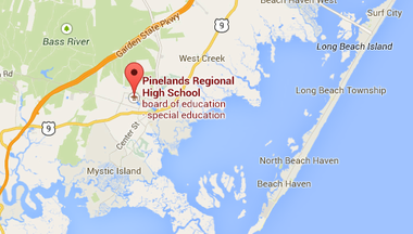 The fire was contained to one classroom at Pinelands Regional High School, authorities said.