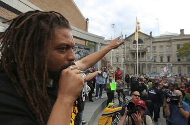 NJ Weedman Ed Forchion smokes joint during a marijuana legalization rally across the street from the State House in Trenton on Oct. 18, 2014 (John Munson | NJ Advance Media for NJ.com).