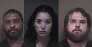 From left to right: Kwasi Mayweather, 30, Victoria Espinal, 19, and Shawn Moll, 27. (Ocean County Jail)