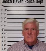 Stephen Wojciehowski, 59, of the Cedar Run section of Stafford Township, was charged with lewdness after he allegedly wore plastic wrap bikini on a Long Beach Island beach. (Beach Haven Police Department)