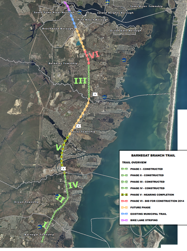 An state appeals court said the New Jersey Department of Environmental Protection did not overstep its authority when it allowed Lacey Township to build a road on its portion of a bike trail