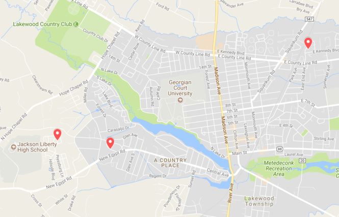 Tuesday's raids were on Brisk Lane (left), Leigh Drive (center) and Twin Oaks Drive.