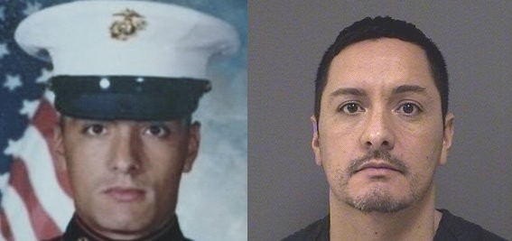 Left: Michael Cassano is a U.S. Marine veteran who was stationed in Camp Lejeune in North Carolina. Right: Cassano is an inmate at the Ocean County jail in Toms River.