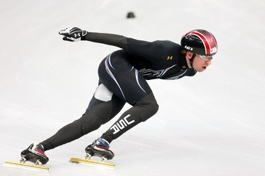 Chris Creveling was an inline skater at the Frenchtown Skating Rink in New Jersey before becoming a speedskater.
