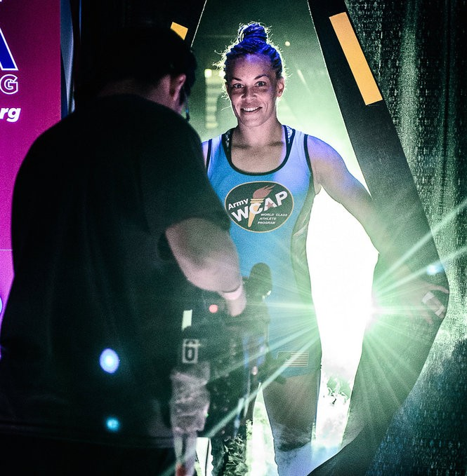 Leigh Jaynes-Provisor makes her entrance at the World Team trials.