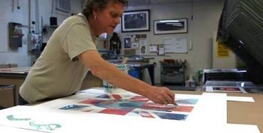 Allen (pictured above in his studio) notes the important of intention in creating art.