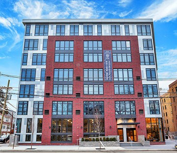 Park Bayonne is a new 60-unit building located less than 12 miles from midtown Manhattan.