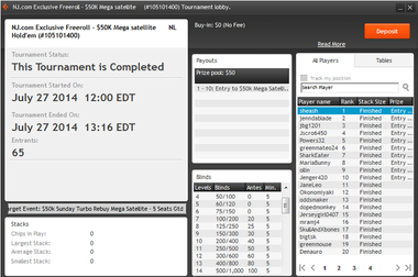 Final results of Sunday July 27th Freeroll