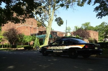 A 39-year-old man rammed a police car as he fled narcotics officers Tuesday in Paterson, police said.