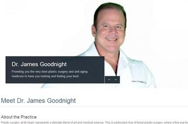 Web page of James Goodnight's anti-aging clinic. the Center for Everlasting Beauty, in Haledon