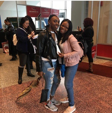 Brianna Combs and Shanaya Coley