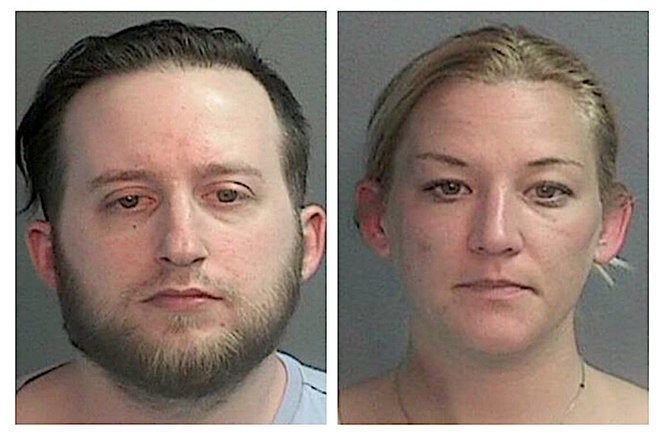 Marc Niedle and Emily K. Lopazanski are charged with robbery. (Wayne PD)