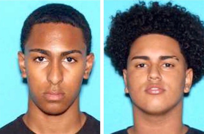 Eighteen-year-old Andy DeJesus and 18-year-old Joel Nunez, both from Garfield, have been charged with murder, robbery and other offenses. (Passaic County Prosecutor's Office)
