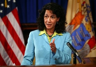 Jennifer Velez, human services commissioner for New Jersey, is pictured in this file photo. A recent letter from the U.S. Department of Agriculture said the state could have to forfeit federal funding if it doesn't expedite the handling of food stamp applications.