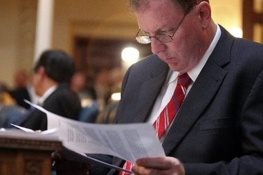 Assemblyman Joe Cryan (D-Union) is shown in this file photo. Cryan today stalled Senate President Stephen Sweeney's firearms ID bill in committee.