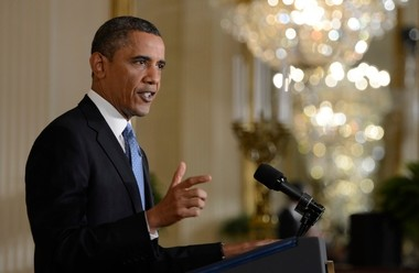 President Obama will take the oath of office and give his second inaugural address shortly before noon Monday.