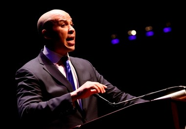 Newark Mayor Cory Booker, shown speaking last year, decided not to challenge Gov. Chris Christie in November's election.