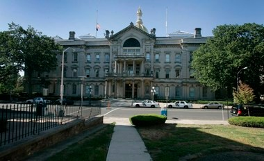 A view of the Statehouse in Trenton.