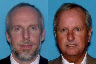 The executive director of the East Orange Water Commission, Harry Mansmann, 58, of Lawrenceville (right), and the assistant executive director, William Mowell, 51, of Wyckoff (left), allegedly hid elevated levels of an industrial solvent in drinking water pumped to tens of thousands of residents in the city and neighboring South Orange.
