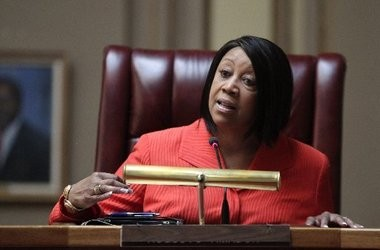 Assembly Speaker Sheila Oliver, shown here in May, agreed to Senate President Steve Sweeney's strategy to remove politicians from future minimum wage questions.