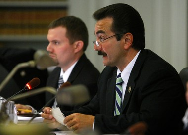 Assembly budget committee Chairman Vincent Prieto (D-Hudson), in this file photo, presided over a six-hour hearing at the Statehouse on health and human services programs.