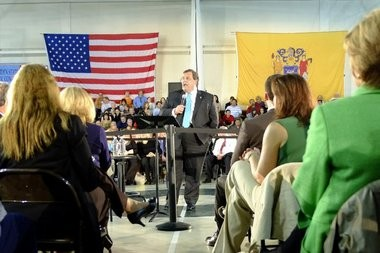 Gov. Chris Christie today vetoed an early voting bill, prompting Democrats to accuse him of playing politics with democracy.