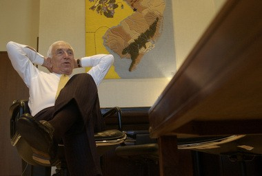 The late Sen. Frank Lautenberg is shown in this file photo. Even in death, the feisty Lautenberg has made trouble, up-ending New Jersey's political landscape.