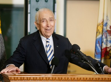 The late Sen. Frank Lautenberg (D-N.J.) is shown in February, when he announced he would not seek another term in 2014. Gov. Chris Christie has scheduled a special election in October to fill Lautenberg's seat — just three weeks before he is to stand for re-election.