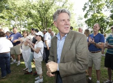 Rep. Fank Pallone, pictured at a Montclair rally for marriage equality.