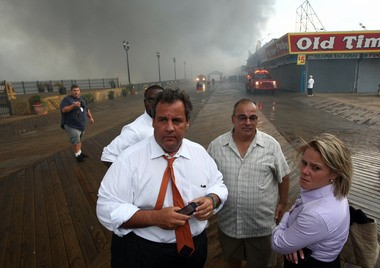 Mastro's firm also sent a letter last Thursday to Bridget Anne Kelly, the former Christie staffer tied to the closures. Kelly, right, is seen here in this handout photo from the Governor's Office looking at fire damage on the the boardwalk in Seaside Heights.